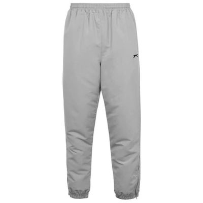 Slazenger Woven, spodnie dresowe, srebrne, Rozmiar M