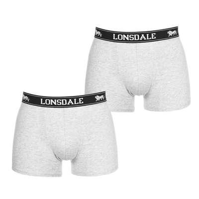 Lonsdale 2 szt. szare, bokserki męskie TRUNKI, Rozmiar L