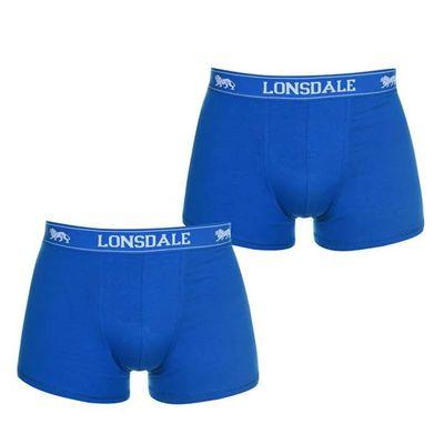 Lonsdale 2 sztuki, bokserki męskie, niebieski Rozmiar XL