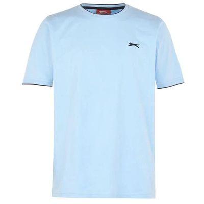 Slazenger Tipped koszulka męska, jasno niebieska, Rozmiar XXL