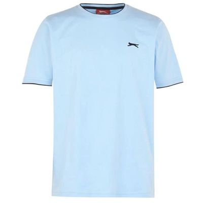 Slazenger Tipped koszulka męska, jasno niebieska, Rozmiar 4XL