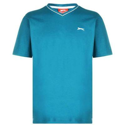 Slazenger V koszulka męska, turkusowa, Rozmiar XL