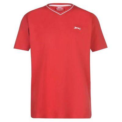 Slazenger V koszulka męska, czerwona, Rozmiar XXL
