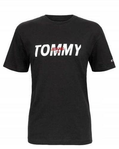 Tommy Hilfiger Jeans, T-Shirt męski 481, czarny, Rozmiar S