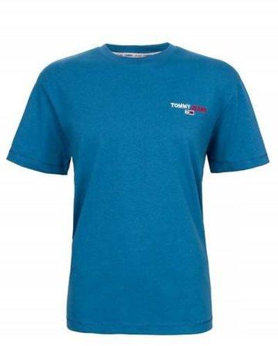 Tommy Hilfiger Jeans, T-Shirt męski CZY, niebieska, Rozmiar XXL