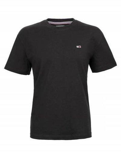 Tommy Hilfiger Jeans, koszulka męski 078, czarna, Rozmiar M