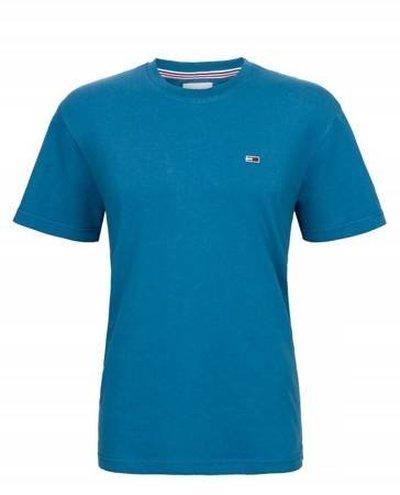 Tommy Hilfiger Jeans, koszulka męski 078, niebieska, Rozmiar L
