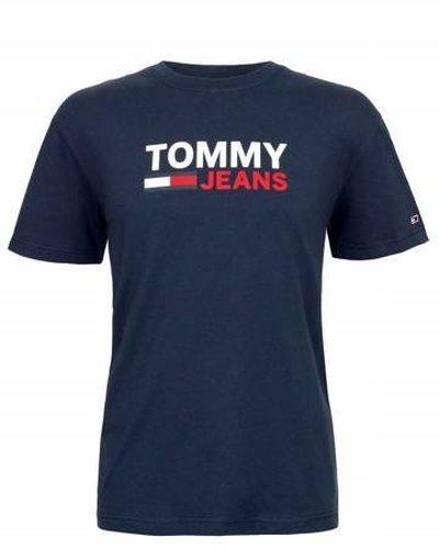 Tommy Hilfiger Jeans, T-Shirt męski 103, granatowa, Rozmiar L