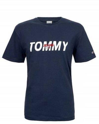 Tommy Hilfiger Jeans, T-Shirt męski 481, granatowa, Rozmiar L