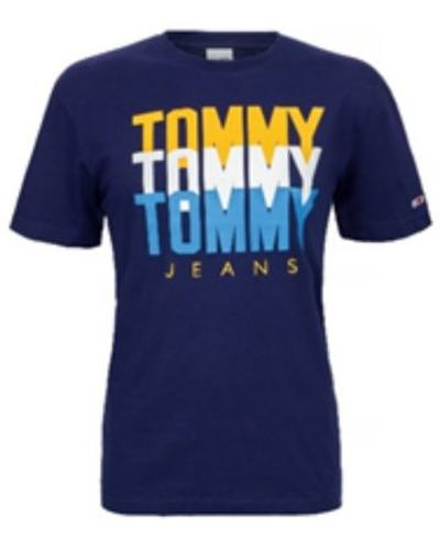 Tommy Hilfiger Jeans, T-shirt męski 713, Indigo, Rozmiar M
