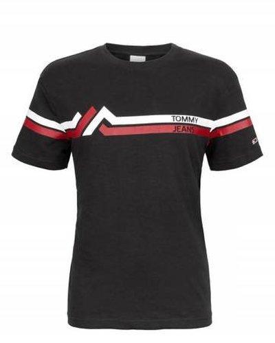 Tommy Hilfiger Jeans, T-shirt męski 799, czarna, Rozmiar XXL