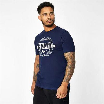Everlast Laurel, koszulka męska, niebieska, Rozmiar XL