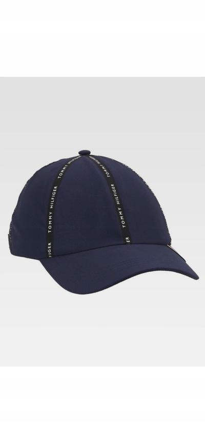 Tommy Hilfiger czapka z daszkiem, granatowa bejsbolówka