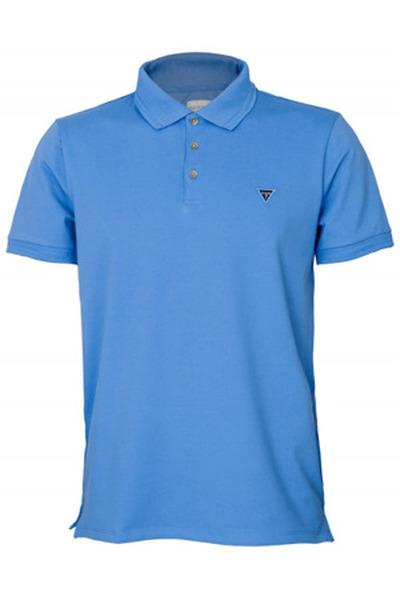 Guess koszulka męska polo, niebieska