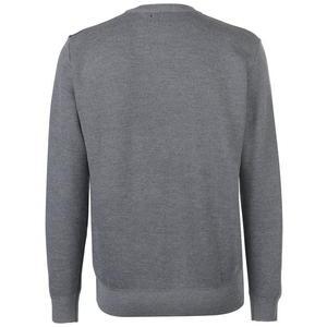 sweter szaro-zielony widok z tyłu