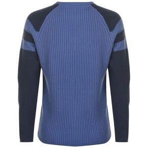 sweter niebieski widok z tyłu