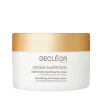 Decleor 200ml Aroma Nutrition odżywczy kremowy krem do ciała z kadzidełkiem Frankincense Essential Oil (Sucha skóra)