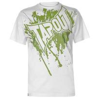 Tapout Logo Tee koszulka męska, biała, Rozmiar M