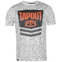 Tapout Chevron koszulka męska, biała, Rozmiar M