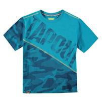 Tapout Camouflage Panel, koszulka dla chłopca, niebieska