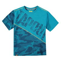 Tapout Camouflage Panel, koszulka dla chłopca, niebieska, Rozmiar 9-10 lat