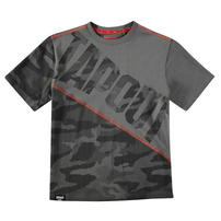 Tapout Camouflage Panel, koszulka dla chłopca, węgiel drzewny