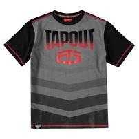 Tapout Camouflage Panel, koszulka dla chłopca, czarny węgiel drzewny