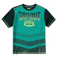 Tapout Camouflage Panel, koszulka dla chłopca, sosna