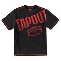 Tapout Gradient Logo, koszulka dla chłopca, antracyt, Rozmiar  9-10 lat
