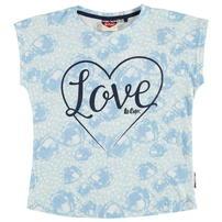 Lee Cooper koszulka dla dziewczynek, biało niebieska