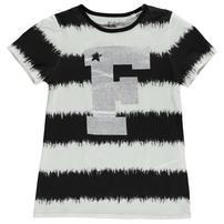 French Connection VIP koszulka dla dziewczynki, czarno biała