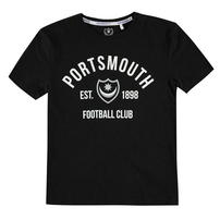 Team Portsmouth Est, koszulka dla chłopców, czarna