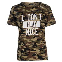 Golddigga Army Ripped koszulka damska, Camo AOP, Rozmiar XS