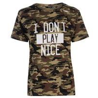 Golddigga Army Ripped koszulka damska, Camo AOP, Rozmiar S