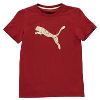 Puma Big Cat koszulka dla chłopców, czerwona brzoza