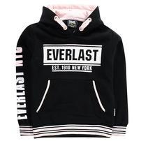 Everlast Hoodie, bluza dla dziewczynek, czarno różowa