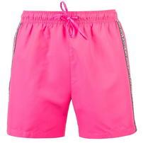 Calvin Klein, Klein Taped, spodenki kąpielowe, różowe