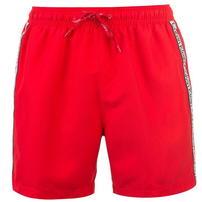 Calvin Klein, Klein Taped, spodenki kąpielowe, czerwone