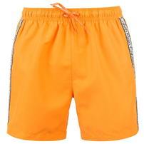 Calvin Klein, Klein Taped, spodenki kąpielowe, pomarańczowe
