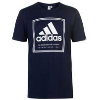 Adidas Roots, koszulka męska, granatowa, Rozmiar XL