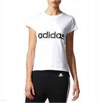 Adidas Linear QT, koszulka damska, biała