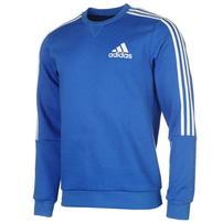 Adidas 3 Stripes Crew, bluza męska, niebieska