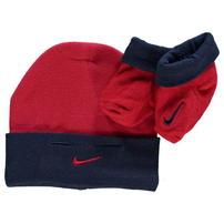 Nike czapka i skarpetki niemowlęce, czerwone