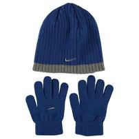Nike Rib czapka i rękawiczki dla dzieci, niebieskie