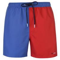 Pierre Cardin Cut Sew, spodenki kąpielowe, niebiesko czerwone