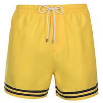 Pierre Cardin Stripe, spodenki kąpielowe, żółte