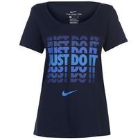 Nike JDI, koszulka damska, granatowa