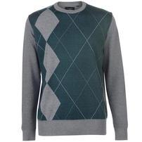 Pierre Cardin Argyle sweter męski, szaro-zielony, Rozmiar XXL