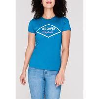Lee Cooper Large Logo, koszulka damska, niebieska