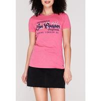 Lee Cooper Large Logo Fashion, koszulka damska, różowa